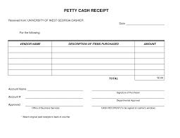 Template For Receipt Of Money Petty Cash Form Very Simple