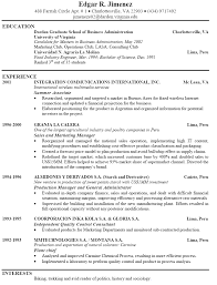 good example of resume