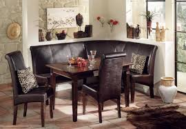 brilliant corner dining bench shown brown leather furniture Dining