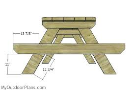 picnic table blueprints picnic bench