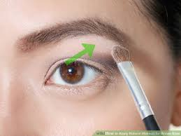 image led apply natural makeup for brown eyes step 7