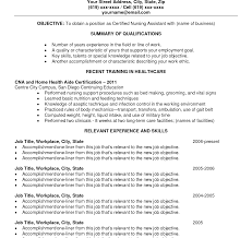Cna Resume Cover Letter Phenomenal Sample Resume Cna Template For Nursing Assistant Job 53