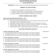 Cna Job Duties Resume Phenomenal Sample Resume Cna Template For Nursing Assistant Job 65