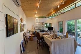 modern shed art studio interior