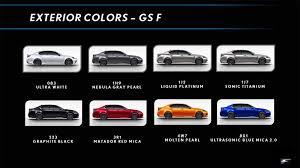 2012 Lexus Color Chart Lexus Gs F Color Chart First Drive Exterior Colors Pearl