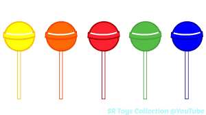 Small Picture Fun Learning Colours with Lollipop Colouring Pages for Children