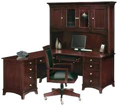 double office desk. Double Office Desk Black With Hutch Corner L Shaped And Cherry Accent Color . E