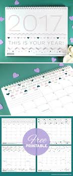 more calendars free printables three stylish 2017 calendars blog botanical