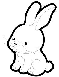 Cartoon Rabbit Outline Under Fontanacountryinn Com