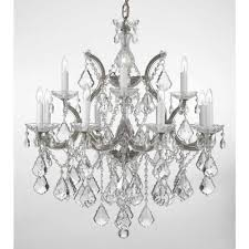 maria theresa 13 light silver crystal chandelier with swarovski crystal