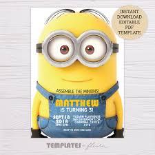 Minions Invitation Template