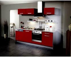 Cuisine Moderne Rouge Et Gris