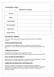 Job Description Word Template 24 Job Description Templates Examples Template Lab 1