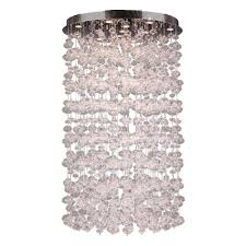 worldwide lighting effervescence collection 13 light clear n glass bubble flushmount