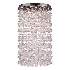 worldwide lighting effervescence collection 13 light clear blown glass bubble flushmount