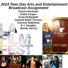 2014 Teen Day Arts & Entertainment Broadcast by Teen Day Radio Network • A  podcast on Anchor