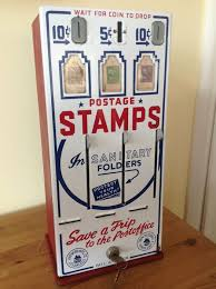Stamp Vending Machine Locations Magnificent Shipman Manufacturing Co Vintage ThreeSlot US Post Office Stamp
