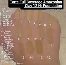 Tarte Amazonian Clay Color Chart Amazonian Clay 12 Hour Full Coverage Foundation Spf 15