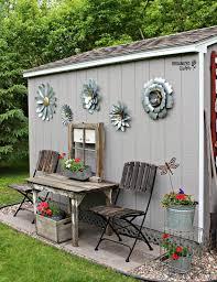 outdoor garden decor. my new junk garden shed outdoor decor e