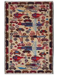 auto pictorial small wool area rug