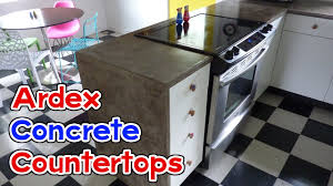 Ardex Feather Finish Countertops Diy Ardex Feather Finish Concrete Countertops Youtube