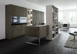 trendy grey accents open space kitchen