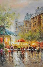 beautiful oil paintings paris street scenes for wall decor