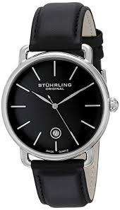 stuhrling original ascot mens black watch swiss quartz analog stuhrling original ascot mens black watch