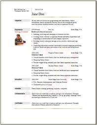 Fitness Resume Template Sports Resume Template Athletic Resume