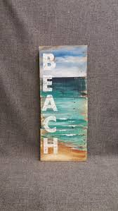 Upcycled Wall Art Pallet Beach Wall Art Nautical Decor Hand Painted Sign