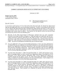 Pharmacy Letter Inspiration Robert Garrity Ohio Board Of Pharmacy Attorney Lawyer