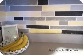 Diy Kitchen Tile Backsplash Diy Faux Tile Backsplash Stephanie Marchetti Sandpaper Glue