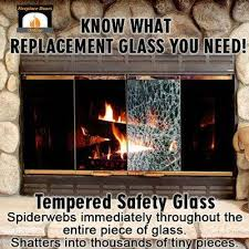 tempered safety glass for fireplace doors when it breaks it spiderwebs immediately throughout the entire