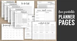 Monthly Planner Template Printable Planner Pages Paper