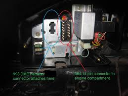 993 3 6 into 91 964 need help page 2 rennlist discussion forums there are 2 connectors on the 993 engine that connect here one connects to the 964 chassis 14 pin connector the other plugs into the 993 dme harness
