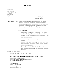 Sample Resume For Electrical Engineer Fresher Pdf Sample Resume Free Sample  Resume Cover