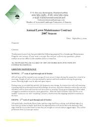 Landscape Contract Template Word Contracts Forms Landscaping The