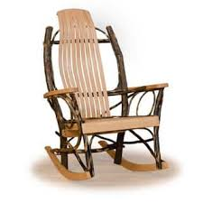 rustic wooden rocking chairs. Delighful Wooden Set Of 2 Rustic Hickory And Oak 9 Slats Rocking Chairs  Tan And Wooden