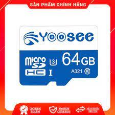 Thẻ nhớ YOOSEE 64GB U3 Class 10 chuyên dụng cho camera wifi và điện thoại - Thẻ  nhớ máy ảnh Hãng No Brand