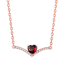 red garnet heart necklace 1 nl