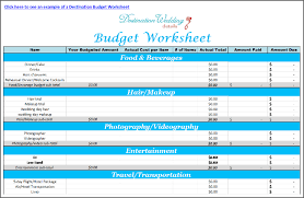 Sample Wedding Budget Spreadsheet Super Simple Destination Wedding Planning Spreadsheets