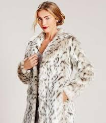 asos snow leopard faux fur coat