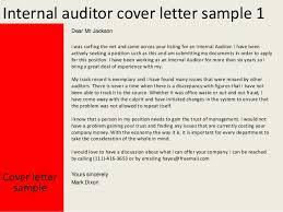 Internal Audit Cover Letter Under Fontanacountryinn Com