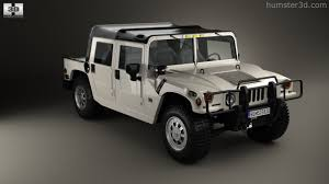 360 view of Hummer H1 pickup 2005 3D model - Hum3D store