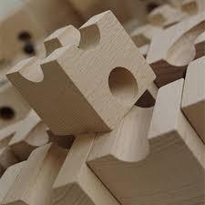 huizorbit ball track basic set 54 piece wooden marble run european made puzzle blocks s