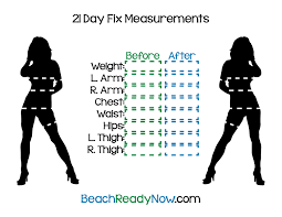 Beachbody Body Measurement Chart 21 Day Fix Printables Beach Ready Now