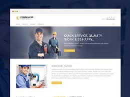 free html5 web template fontanero free responsive plumbing construction repair html5