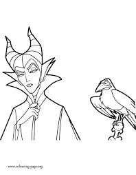 Small Picture Maleficent Maleficent and Diablo coloring page