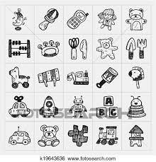いたずら書き おもちゃ アイコン クリップアート