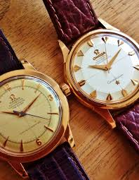 17 best images about watches omega seamaster vintage omega constellation piepan bumper chronometer in 18k solid rose gold
